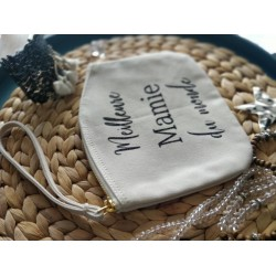 "Trousse plate ""Meilleure Mamie"""
