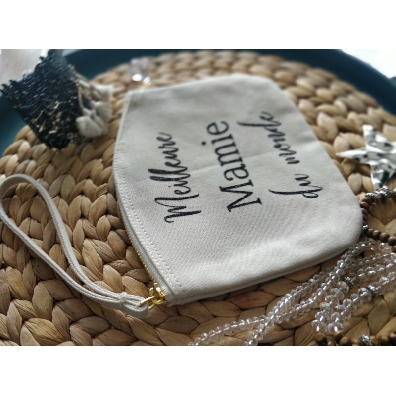 """Trousse plate """"Meilleure Mamie"""""""